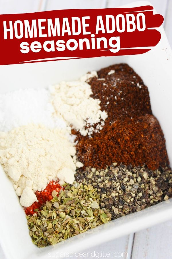 How to make homemade adobo seasoning- a thoughtful homemade gift for the foodie in your life, or a great addition to your kitchen spice cabinet. Add some zest and heat to your favorite Latin recipes!