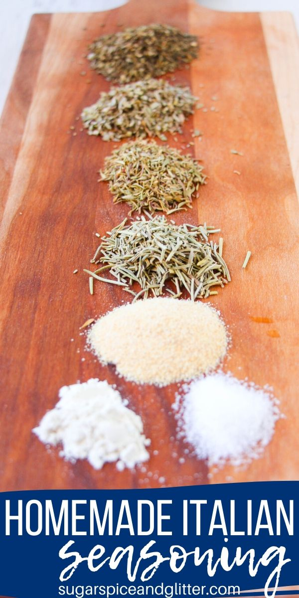 How to make the perfect homemade Italian seasoning recipe for all of your favorite Italian recipes. This easy Italian spice mix also makes a great homemade gift