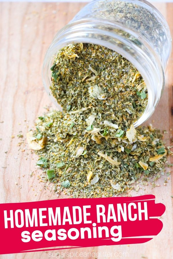 This easy Homemade Ranch Seasoning is the perfect replacement for those expensive ranch seasoning packets and is perfect for making homemade ranch dips and dressings, or making ranch chicken, popcorn, roasts, etc.