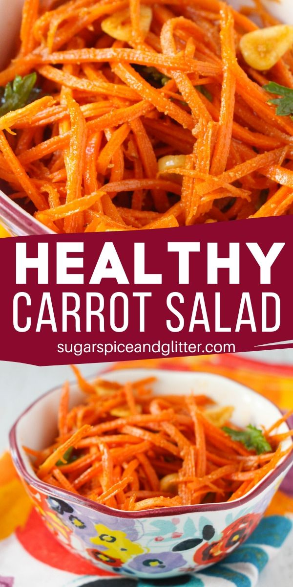 How to make a healthy carrot salad the whole family will love. Zesty, slightly sweet and even better the next day - this carrot slaw is just 6 ingredients and takes less than 10 minutes to whip up