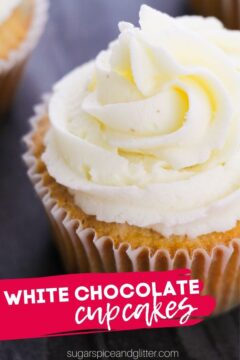 White Chocolate Cupcakes (with Video)