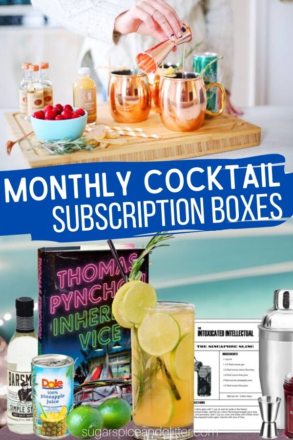 A fun way to experiment with different cocktails and build your home bar set-up, these Monthly Cocktail Subscription Boxes deliver everything you need for your next cocktail night
