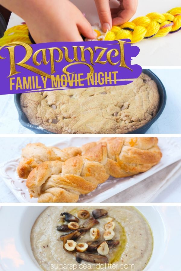 Plan the BEST Tangled Family Movie Night: Themed menu, decor, crafts ideas - plus a free printable planner for your own Disney family movie night