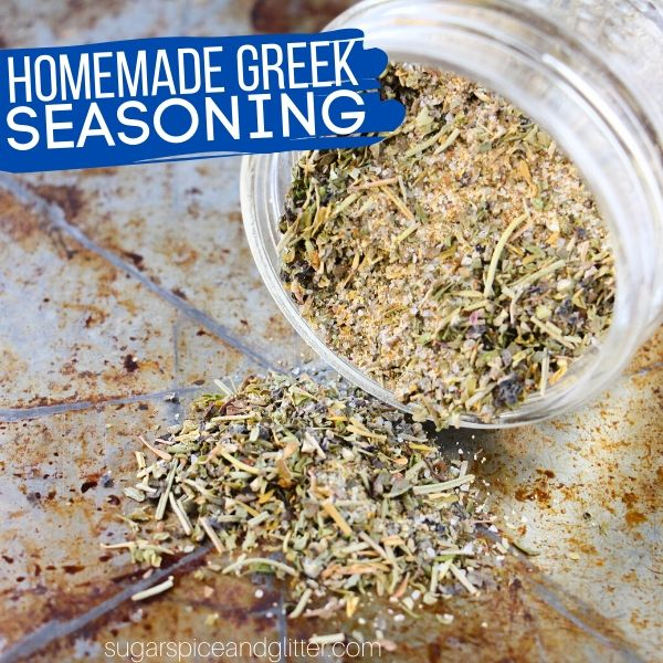 How to make homemade Greek seasoning from scratch for all of your favorite Greek recipes or homemade Greek salad dressing