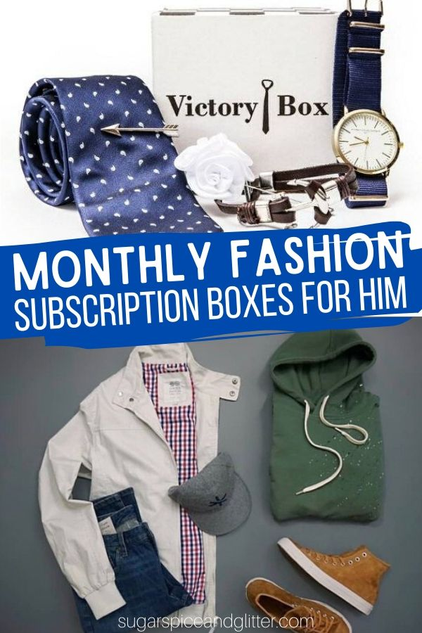 Monthly Fashion Subscription Boxes for Men - the perfect gift idea for the man who likes to stay on trend, or is trying to build up a professional wardrobe