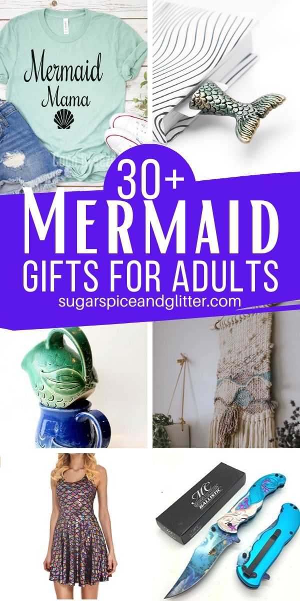 Who says kids should have all the fun? These magical Mermaid gifts are just for the adults - from whimsical, pretty gifts to thoughtful, practical gifts they can use everyday