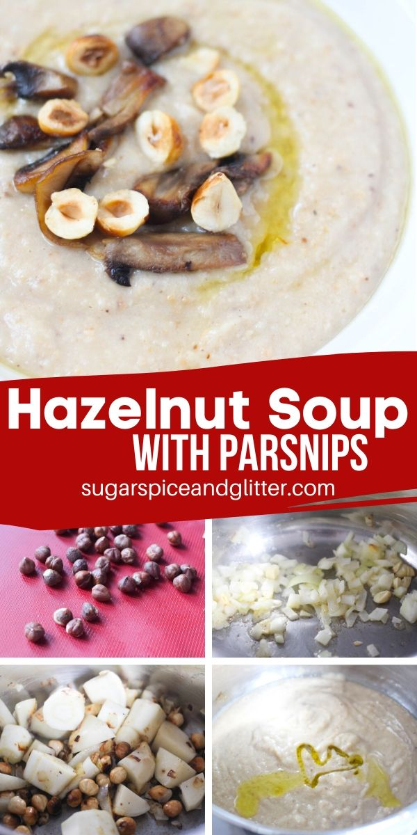 A rich and comforting hazelnut parsnip soup inspired by Rapunzel's favorite! Perfect for a Disney movie night or anytime you are craving some healthy comfort food
