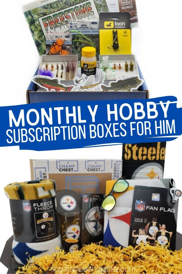 Subscription boxes just as unique as he is! Over 38 unique subscription boxes catered to your man's interests