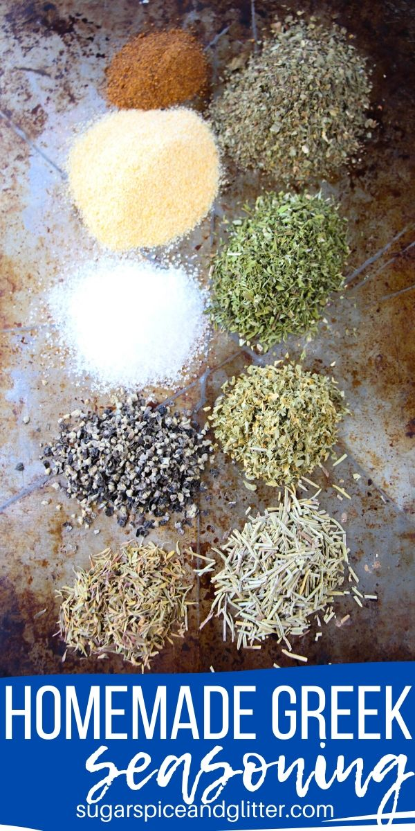 This homemade Greek seasoning tastes way better than anything you will find at the store, and avoids all of the nasty ingredients found in traditional seasoning mixes. Just pure flavor to spice up your favorite Greek recipes
