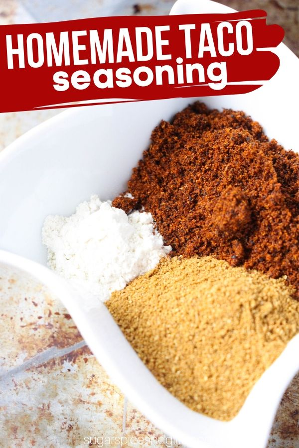 This easy homemade taco seasoning is just 5 ingredients and tastes way better than anything you can get in a packet (plus you can control the sodium)