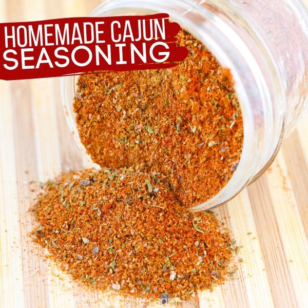 How to make the best homemade cajun seasoning with a few simple herbs and spices you probably already have in your kitchen!