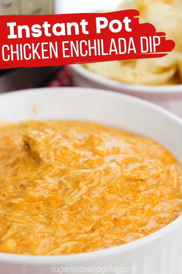 This delicious chicken enchilada soup is super cheesy, saucy and packed with protein - and made completely in the Instant Pot! Perfect for a party, especially if you'll have keto guests
