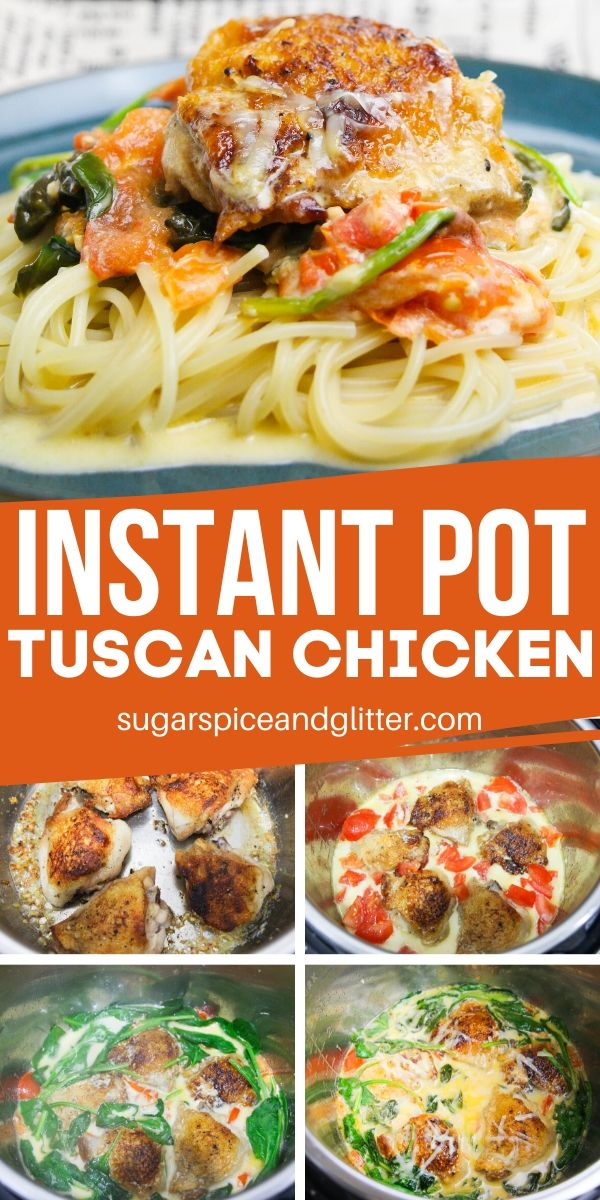 Instant Pot Tuscan Chicken is a family-friendly chicken dinner ready in less than 20 minutes! It's the perfect weeknight meal when you want something special and restaurant-quality