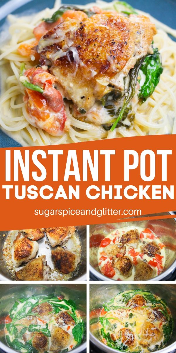 How to make the BEST Tuscan Chicken, in your Instant Pot! This easy chicken recipe takes less than 20 minutes and tastes absolutely restaurant-worthy