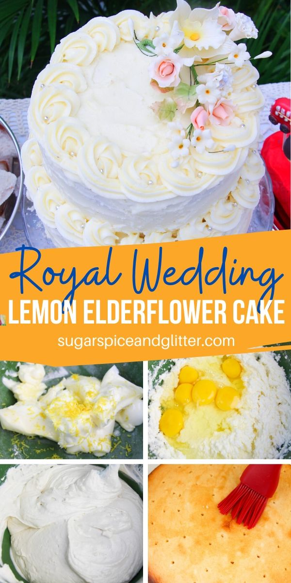 How to make a lemon elderflower cake just like the one at Meghan and Harry's Royal Wedding. Simply the best lemon cake you will ever taste!