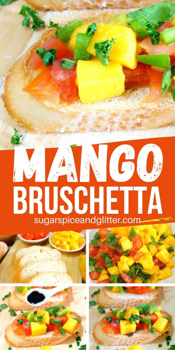 How to make mango bruschetta - a fun new twist on bruschetta that is the perfect combination of sweet and savoury. Perfect for a summer appetizer