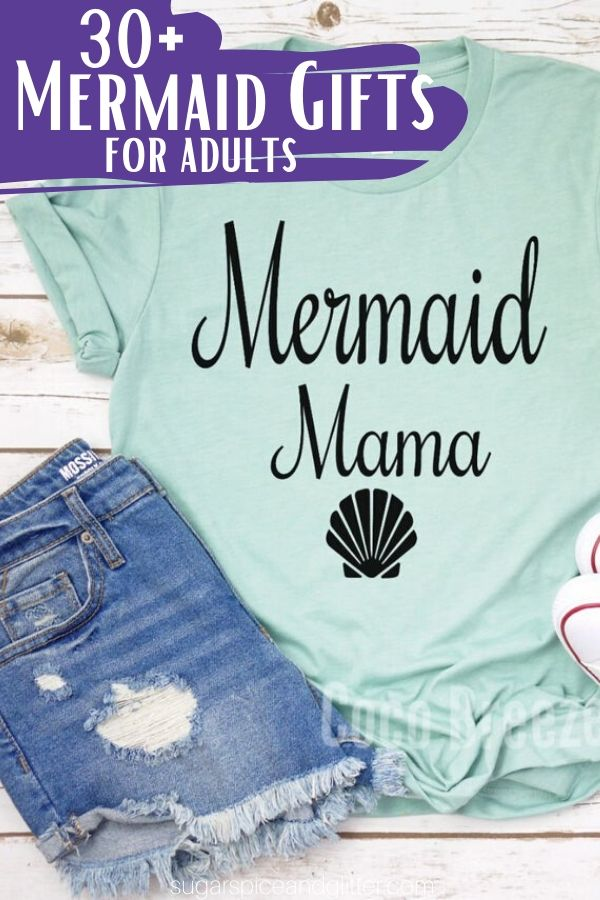 Unique Mermaid Gift Ideas for Adults - from clothing, accessories, decor and practical items they can use every day! Fun Mother's Day gift ideas or Christmas mermaid gifts