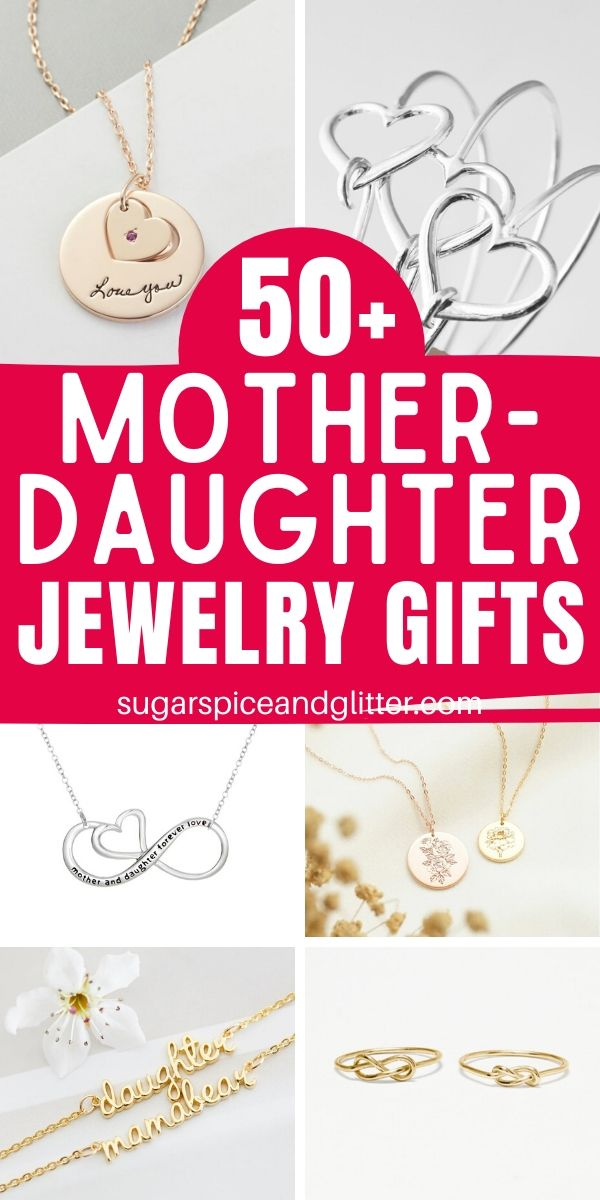 A gorgeous way to celebrate your unique Mother-Daughter relationship, with a thoughtful gift that symbolically shows your special bond. These are perfect for a Mother's Day gift, baby shower gift, or Christmas present