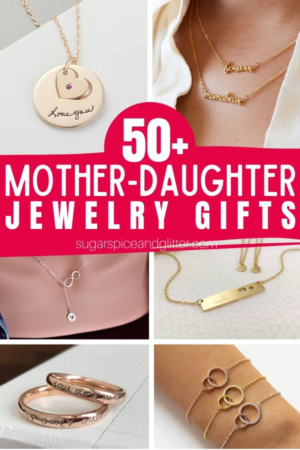These gorgeous Mother-Daughter Jewelry gifts are such a timeless gift, whether for Mother's Day, a birthday, graduation or just a special way to celebrate your bond