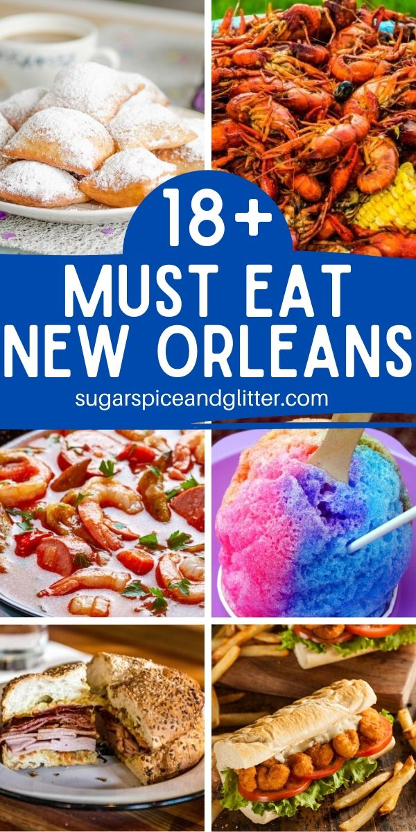 Heading to New Orleans? Don't miss these Must-Eat New Orleans foods and drinks for the ultimate Big Easy experience! Plus free printable foodie checklist