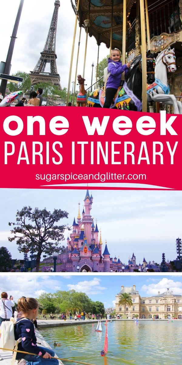 What to do, what to see and what to skip during your Paris Vacation with Kids. All conveniently organized in a daily itinerary PLUS free printable itinerary