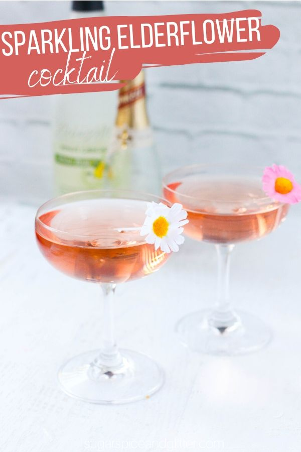 These French 77 Cocktails are a floral twist on champagne cocktails - perfect for ladies night, a special brunch or a Rapunzel themed movie night