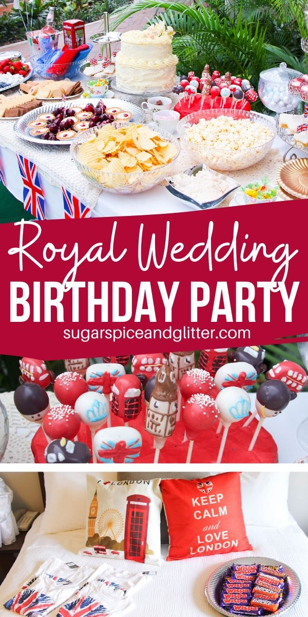 This British Themed Birthday Party has it all - and was done on a budget! British party food, activities, decor, party favors and more!