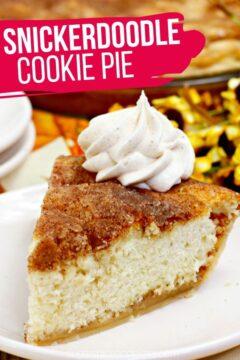 Snickerdoodle Cookie Pie