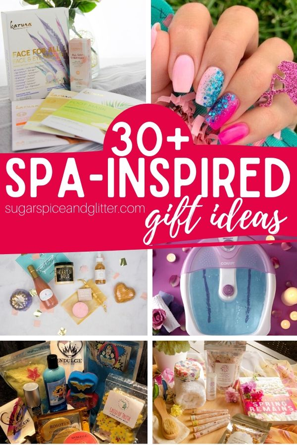 Pamper her with these fun Spa-inspired gifts that bring the spa experience home! Spa subscription boxes, luxury beauty products, and plenty of fun things to help her relax and indulge