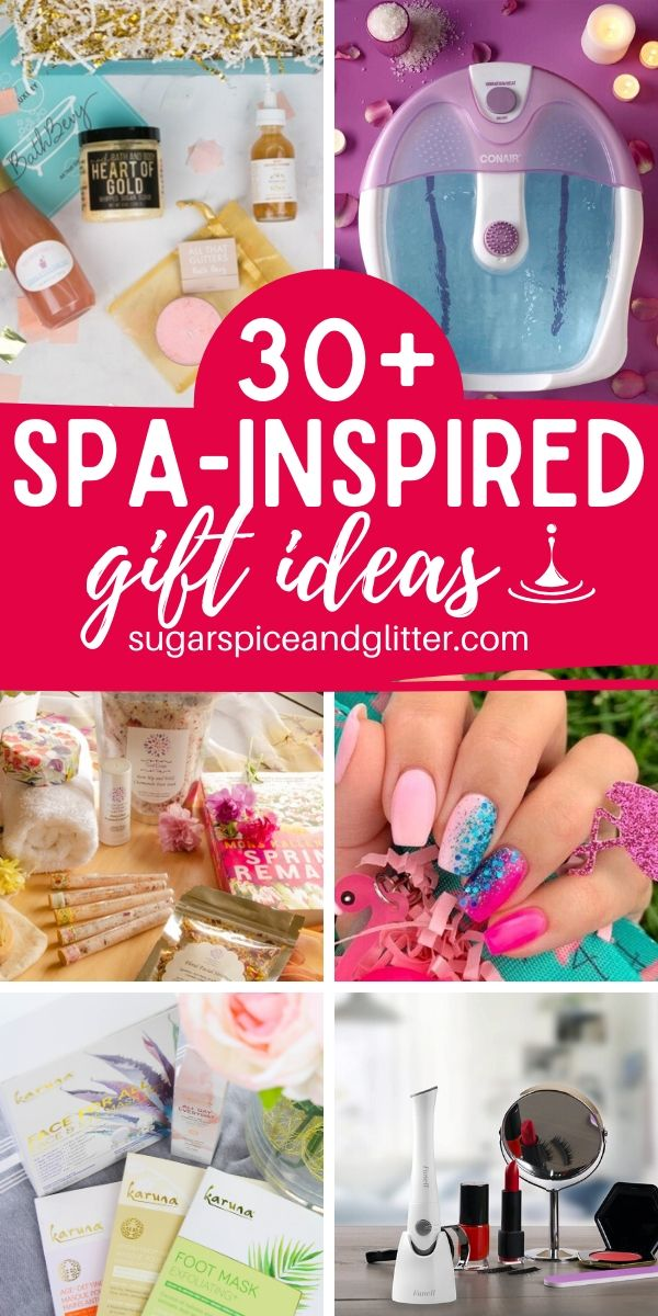 Indulge and feel pampered with these spa-inspired gifts that bring the spa home! Subscription boxes, beauty tools, relaxing gifts, and more!