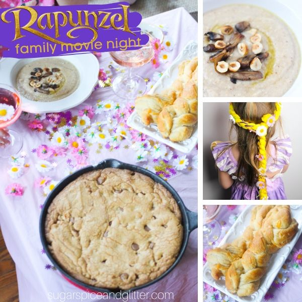 How to plan the perfect Tangled movie night with your family - crafts, themed menu, decor and a free printable planner!