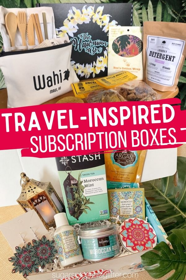 These Travel Subscription Boxes allow you to taste, smell and see the world - all from home! Perfect for easing your wanderlust in between vacations