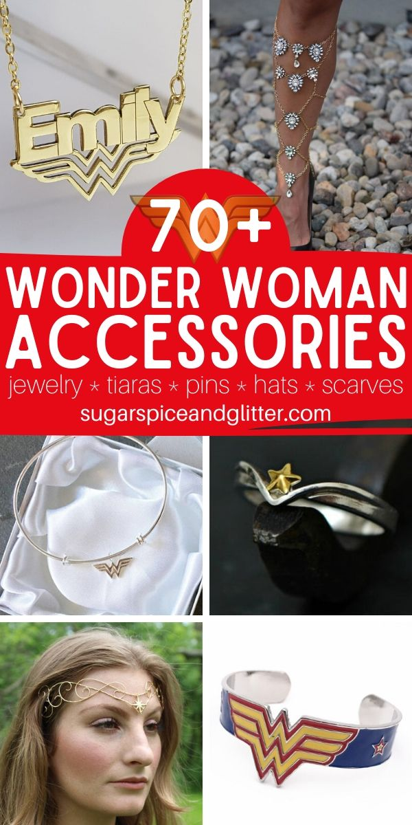 The perfect gift for a Wonder Woman fan, these Wonder Woman Accessories are as unique and gorgeous as she is! Everything from rings and cuffs to hair accessories and wallets