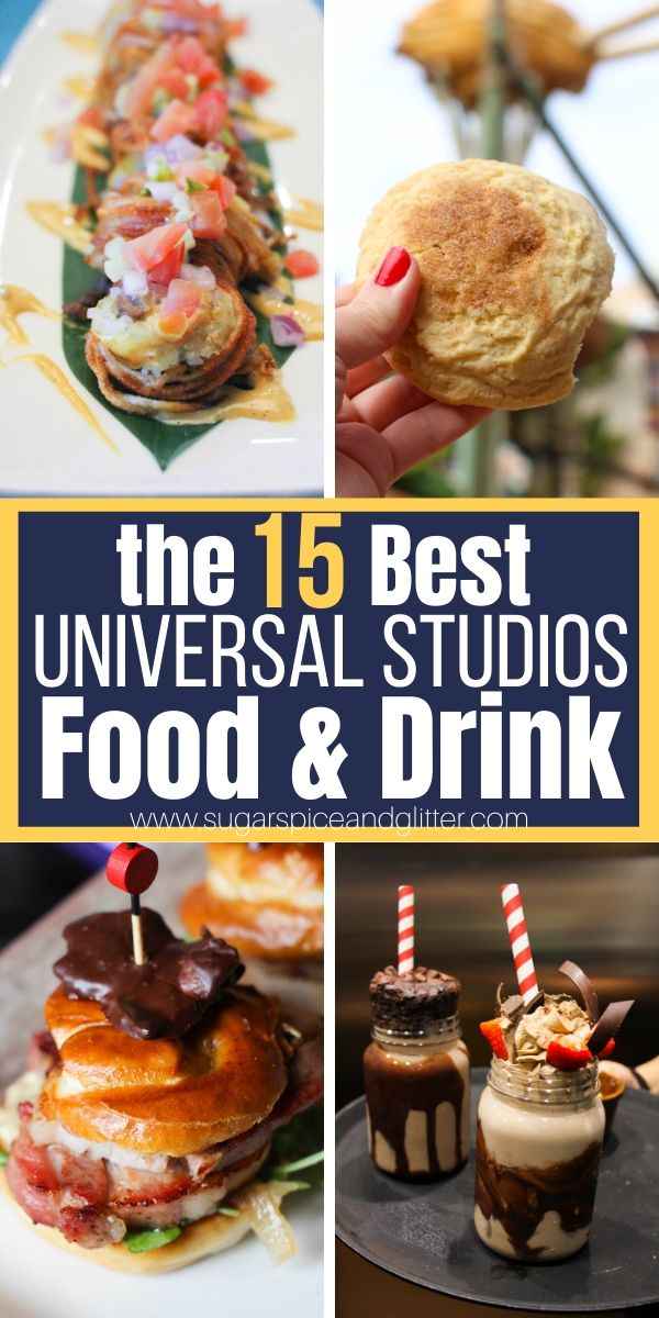 The Best Things to Eat and Drink at Universal Studios Florida, plus a free printable checklist to take with you to the park so you don't miss a single one!