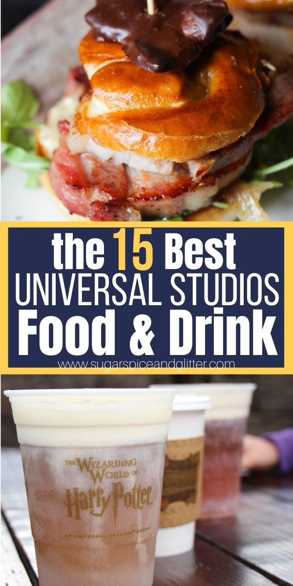 15 Foods You MUST EAT at Universal Studios Florida, Plus honorable mentions and a free printable checklist to take with you to the park!