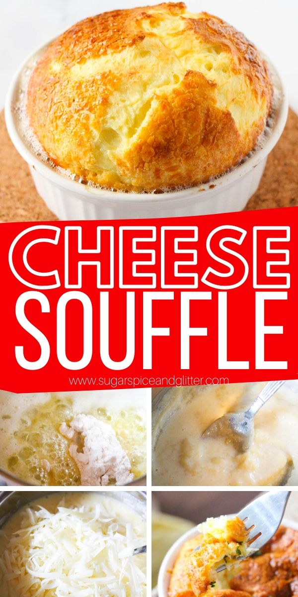 How to make a fool-proof cheese souffle that won't fall. No tricky steps, no fancy equipment, just simple and delicious!