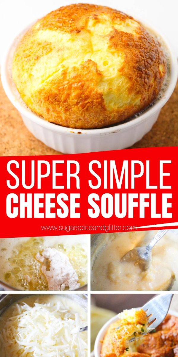 A super simple recipe for a classic Cheese Souffle - forget the intimidating reputation, this classic French recipe is incredibly easy and doesn't require any tricky steps. You don't even need to whisk the eggs!