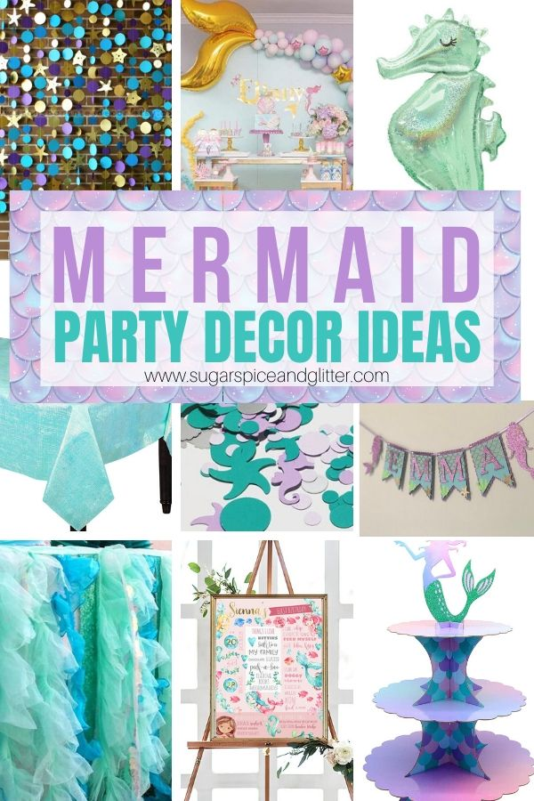 Magical Mermaid Party Decor Ideas, plus Mermaid Party Favors, Mermaid Party Menu Planning, Party Outfits, and more!