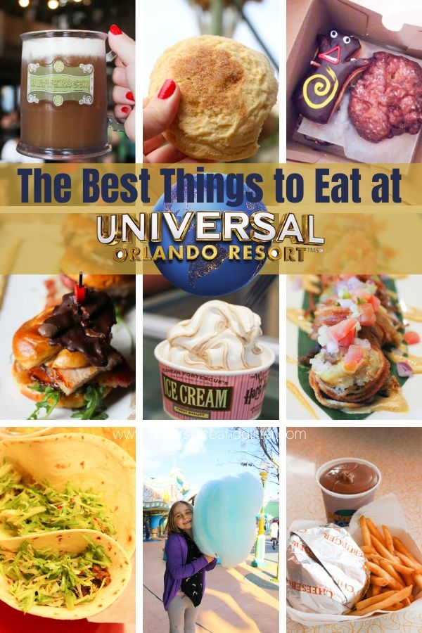 The Best Things to Eat at Universal Studios Florida on your next Universal Family Vacation, plus printable checklist to take with you to the park