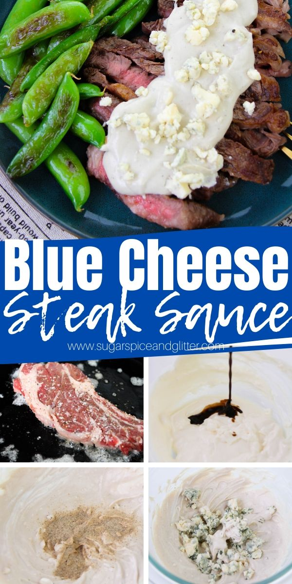 How to make the best blue cheese steak sauce - perfect for steaks, wedge salads, or to pair with chicken wings. This decadent sauce takes a casual steak dinner and transforms it into a meal that is truly steakhouse-worthy.