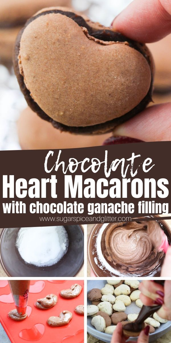 How to make chocolate macarons with a simple 3-ingredient chocolate ganache filling, the perfect French dessert recipe for a special occasion