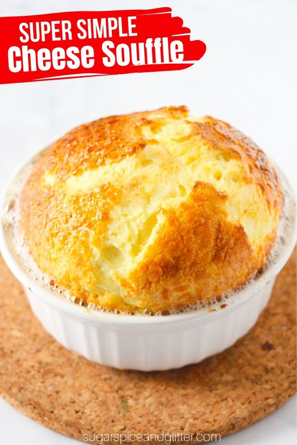 Light, airy and cheesy souffle - without any tricky steps or fancy equipment. Forget the intimidating reputation, this classic French recipe is super simple to make at home!