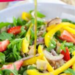Italian Strawberry Arugula Salad with Chicken