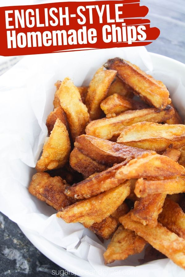 How to make the perfect crunchy french fries with tender, fluffy insides - just like they serve at old-fashioned fish and chip shops! A delicious side dish for steaks, burgers, etc.
