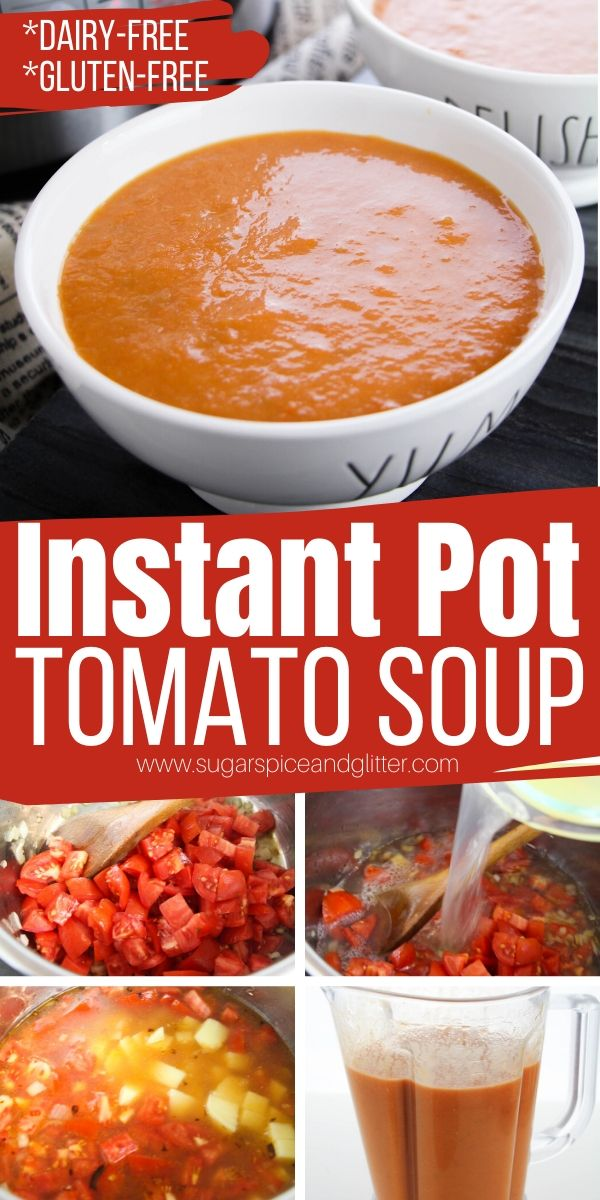 A quick and easy Instant Pot Tomato Soup recipe is the perfect option when you want something healthy but comforting. Tastes way better than the stuff you can get in a can, and is healthier, too!