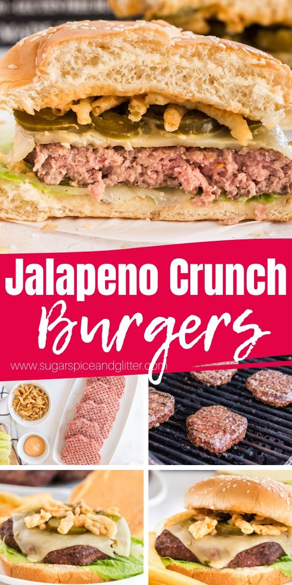You need this delicious and spicy cheeseburger at your next BBQ! Spicy mayo, pepperjack cheese, pickled jalapenos and fried onions for crunch, these Cowboy Burgers or Texas Burgers are a fun twist on a classic cheeseburger