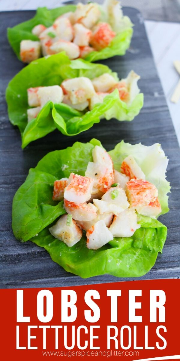 Love Lobster Rolls? This lightened up version skips the bun to make it summer friendly - perfect for cookouts, beach days or lunch prep