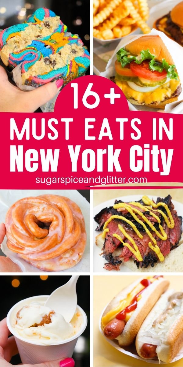 EVERYTHING you need to eat while in NYC! What to eat, where to find it, plus a few tips to make your NYC vacation planning even easier