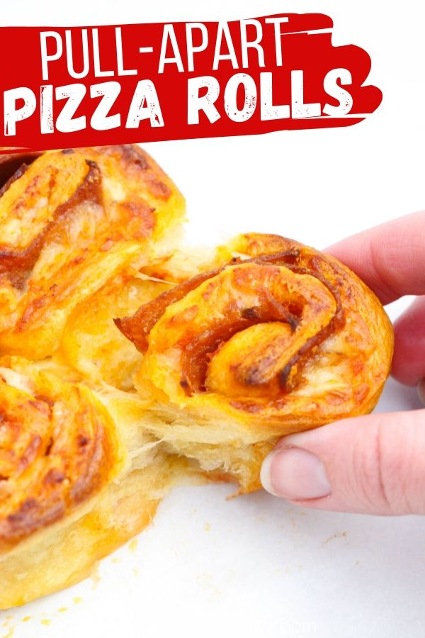 A delicious and unique pizza appetizer, these Pull-Apart Pizza Rolls are perfect for parties, tailgating, family night - or just a special lunch box treat! Top with your favorite pizza toppings