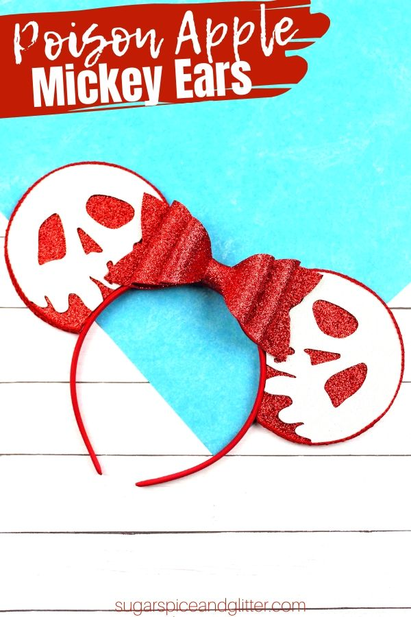 A simple step-by-step tutorial to make a Poison Apple headband craft, perfect for Mickey's Not So Scary Halloween or just a fun dress-up item! Inspired by Snow White and the Descendants